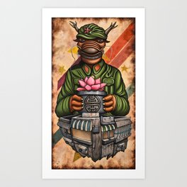 Oyster Mirror Series no.1 Art Print
