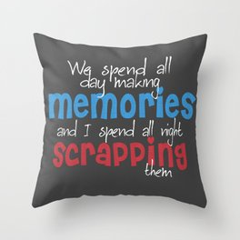 Scrapbooking Throw Pillow