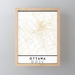 OTTAWA CANADA CITY STREET MAP ART Framed Mini Art Print
