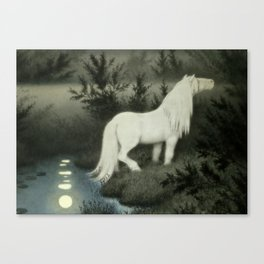 """Water Sprite"" by Theodor Kittelsen Canvas Print"