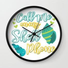 Funny Summer Sun Beach Holiday Vacation Drink Gift Wall Clock