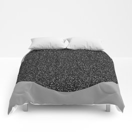 Big Ball in Black and White Comforters