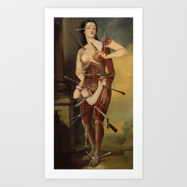 Wound Woman *collage Art Print