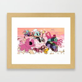 The Animals Fly Away Framed Art Print