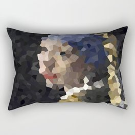 Pixelated Girl with a Pearl Earring Rectangular Pillow