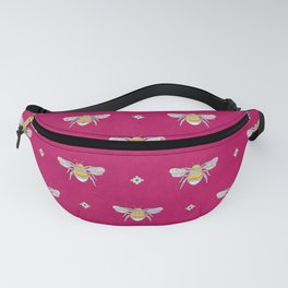 Bumblebee Stamp on Magenta Fanny Pack
