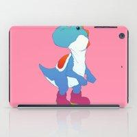 yoshi iPad Cases featuring Yoshi Blue by bloozen