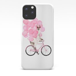 Riding Llama with Pink Balloons #1 iPhone Case