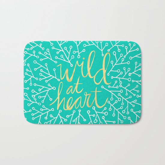 Wild at Heart – Turquoise Bath Mat