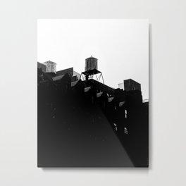 Water tank in NYC Metal Print