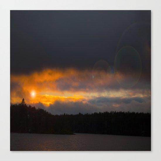 October Cloudy Sunset Canvas Print
