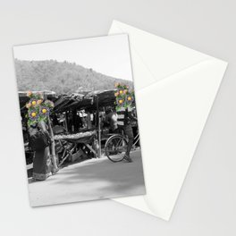 Lily at the market Stationery Cards
