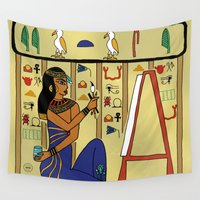 egyptian Wall Tapestries featuring Egyptian Artist by Yatasi