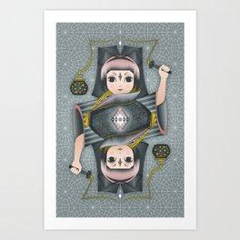 Snow Fireflies Art Print