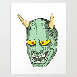 Green Devil Art Print