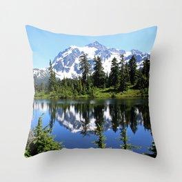 Mt. Shuksan and Reflection Throw Pillow