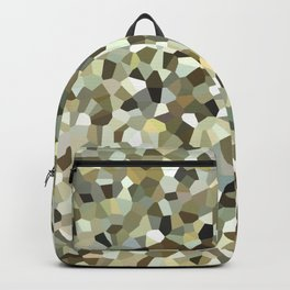 Yellow Mosaic Pattern Backpack