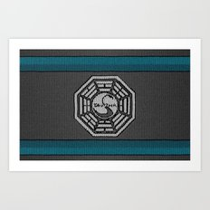 Dharma Logo from LOST - Knitted Version Art Print