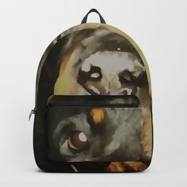 Dogs Lover Rottweiler Pet Portrait Backpack