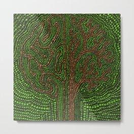 Dot Art Lawn Tree Digital Art Metal Print