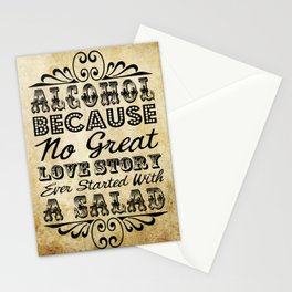 Vintage Typography Antique Drinks Signage Stationery Cards