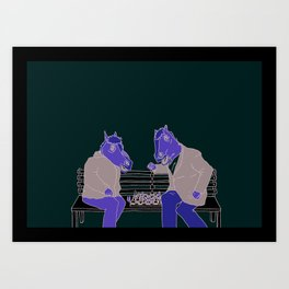 A two horse race Art Print