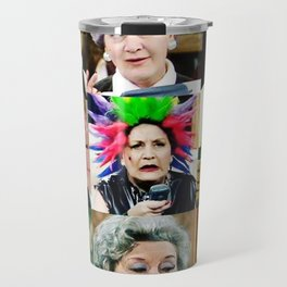 The Faces of Slocombe Travel Mug