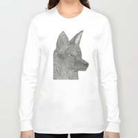 coyote Long Sleeve T-shirts featuring Coyote by Amber Lundy Leigh