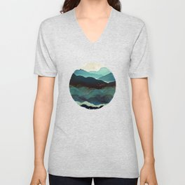 Indigo Mountains Unisex V-Neck