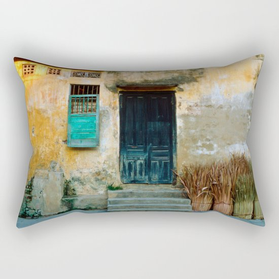 VIETNAMESE FACADE - HOI AN Rectangular Pillow