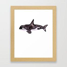 Watercolor Orca Killer Whale Framed Art Print