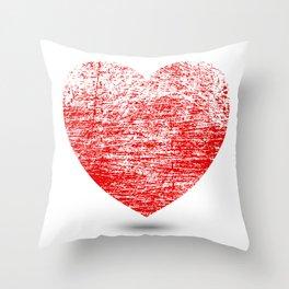 Grunge Heart Throw Pillow