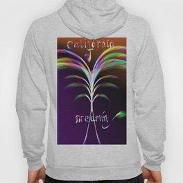 California Dreamin Abstract Palm Tree Hoody