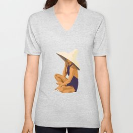 Criss Cross Applesauce Unisex V-Neck