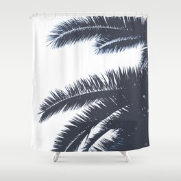 Palm Tree leaves abstract III Shower Curtain