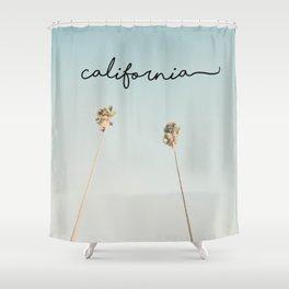 California Palms Mint Shower Curtain