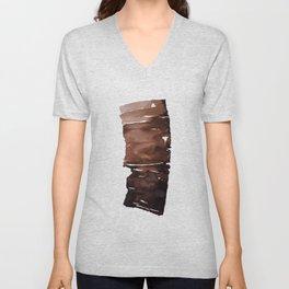 Brown Ink Unisex V-Neck