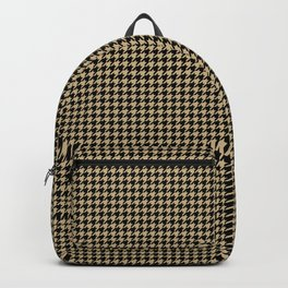 Christmas Gold and Black Houndstooth Check Backpack
