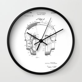 patent art Falkenberg Headphone assembly 1966 Wall Clock