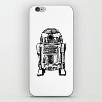 r2d2 iPhone & iPod Skins featuring R2D2 by Kimberly Rhee