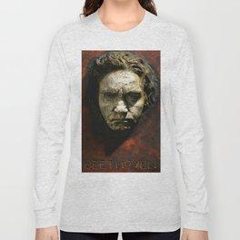 Ludwig van Beethoven (1770-1827) by Franz von Stuck (1863 - 1928)(1) Long Sleeve T-shirt