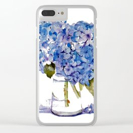 Cape Cod Hydrangea Large Canvas Clear iPhone Case