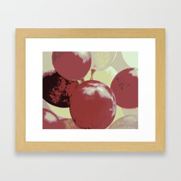 Red Grapes Framed Art Print
