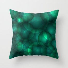 Luminous lead soap circles and volumetric cobalt bubbles of air and water. Throw Pillow