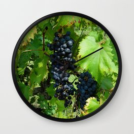 Grapes in the Sunshine Wall Clock