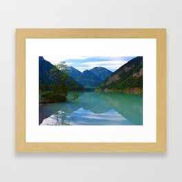 Morning Reflections on Kinney Lake in Mount Robson Provincial Park, British Columbia Framed Art Print