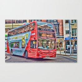 Nottingham Shrek Bus Canvas Print