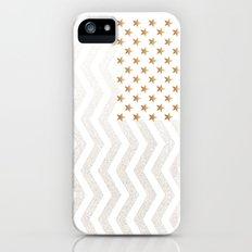 GOLD Stars & Stripes Slim Case iPhone (5, 5s)