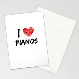 I Love Pianos Stationery Cards
