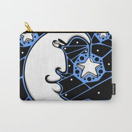 Moon and Stars Trellis Carry-All Pouch